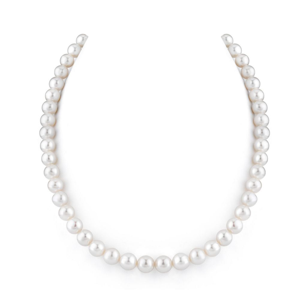 "122-882 - 16""-18"" AAA Quality 8-9mm White Cultured Freshwater Pearl Strand Necklace"
