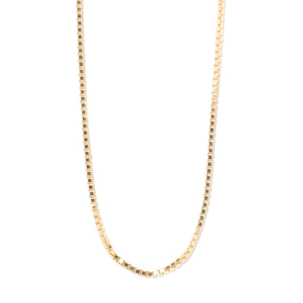 "123-563 - 14K Yellow Gold 24"" Box Chain Necklace"