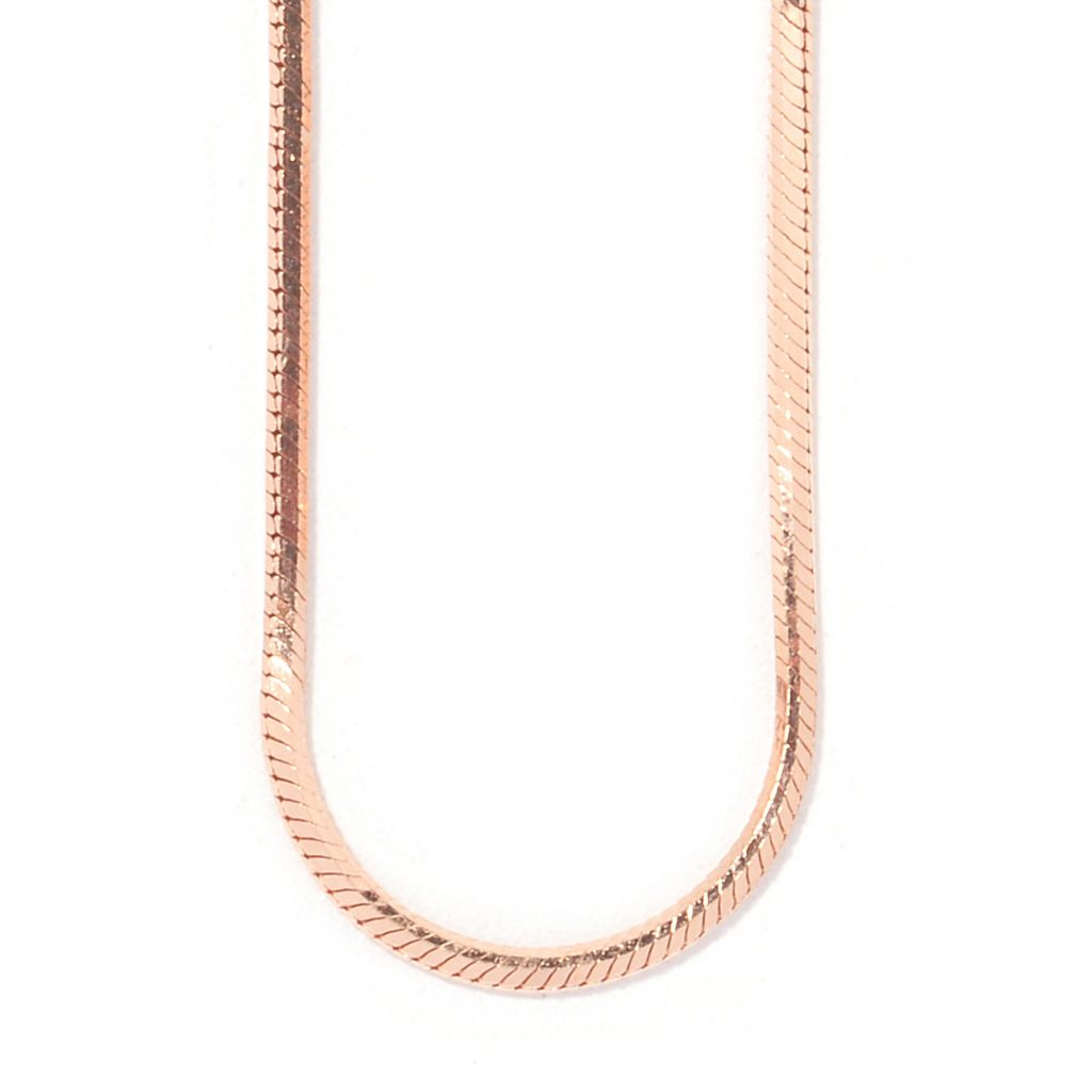 "123-567 - 14K Rose Gold 20"" Diamond Cut Snake Chain Necklace"