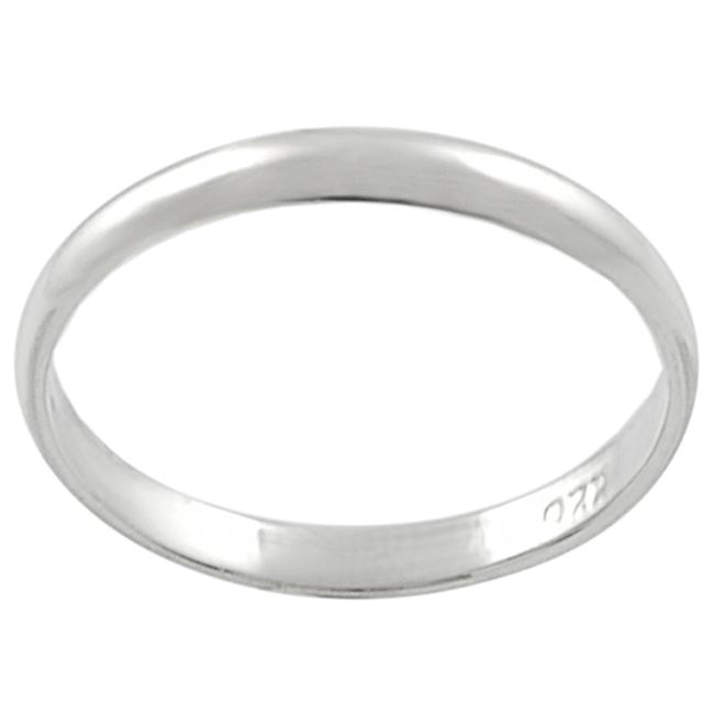 123-690 - Tressa Sterling Silver Simple Band Ring