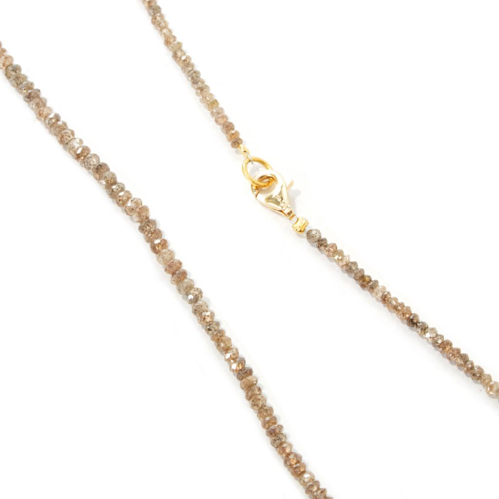 "124-301 - SoHo Boutique 18K Gold 18.75"" 23.00ct Yellow, Green, Cocoa or Gray Rough Diamond Necklace"