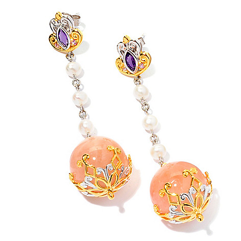 124-879 - Gems en Vogue II Multi Gemstone Drop Earrings