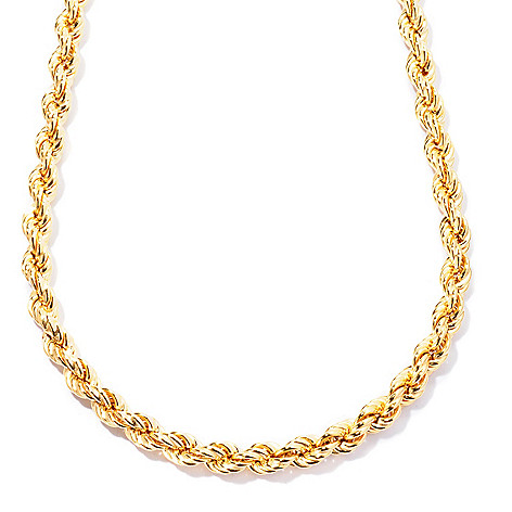 124-959 - Portofino Gold Embraced™ 20'' Polished Rope Chain Necklace
