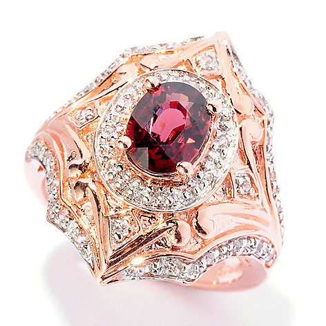 125-016 - NYC II 1.55ctw Full Cut Raspberry & White Zircon Ring