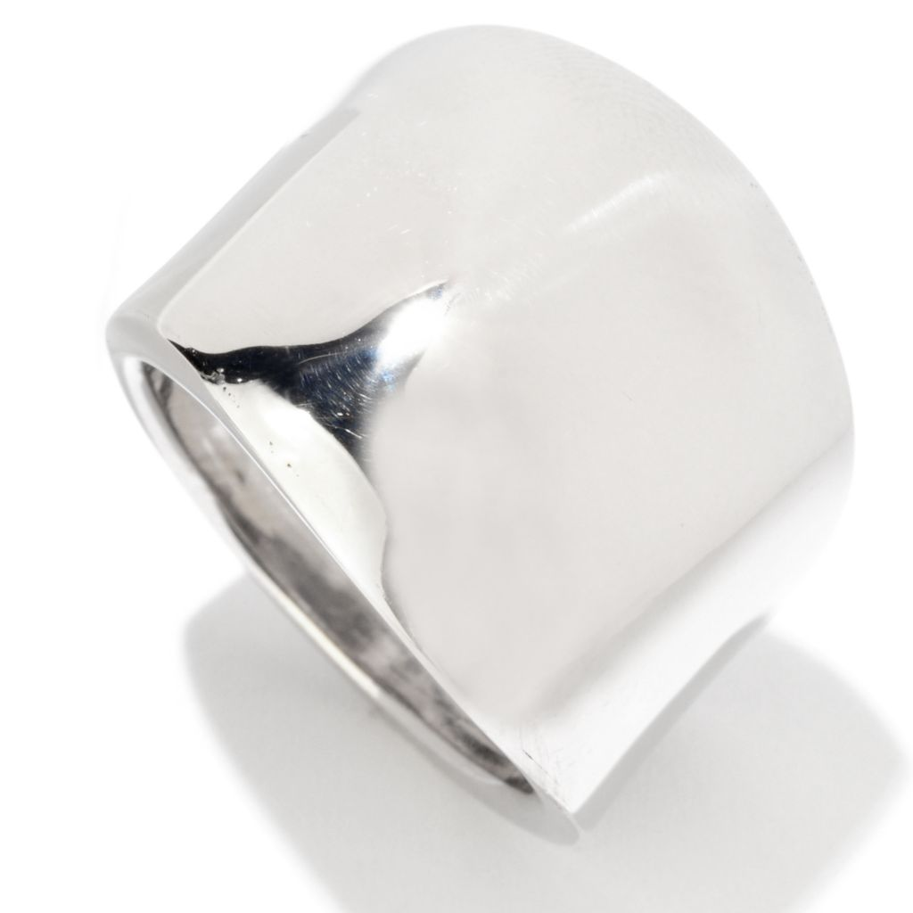 125-039 - Palatino™ Platinum Embraced™ High Polished Wide Band Ring