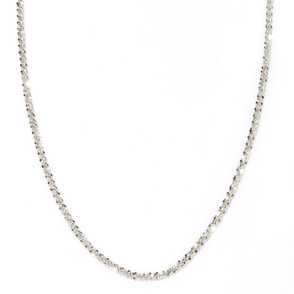 "125-040 - Palatino™ Platinum Embraced™ 20"" Diamond cut Margherita Necklace"