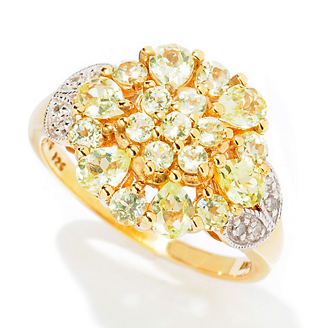 125-142 - NYC II™ 1.56ctw Chrysoberyl & Diamond Flower Ring