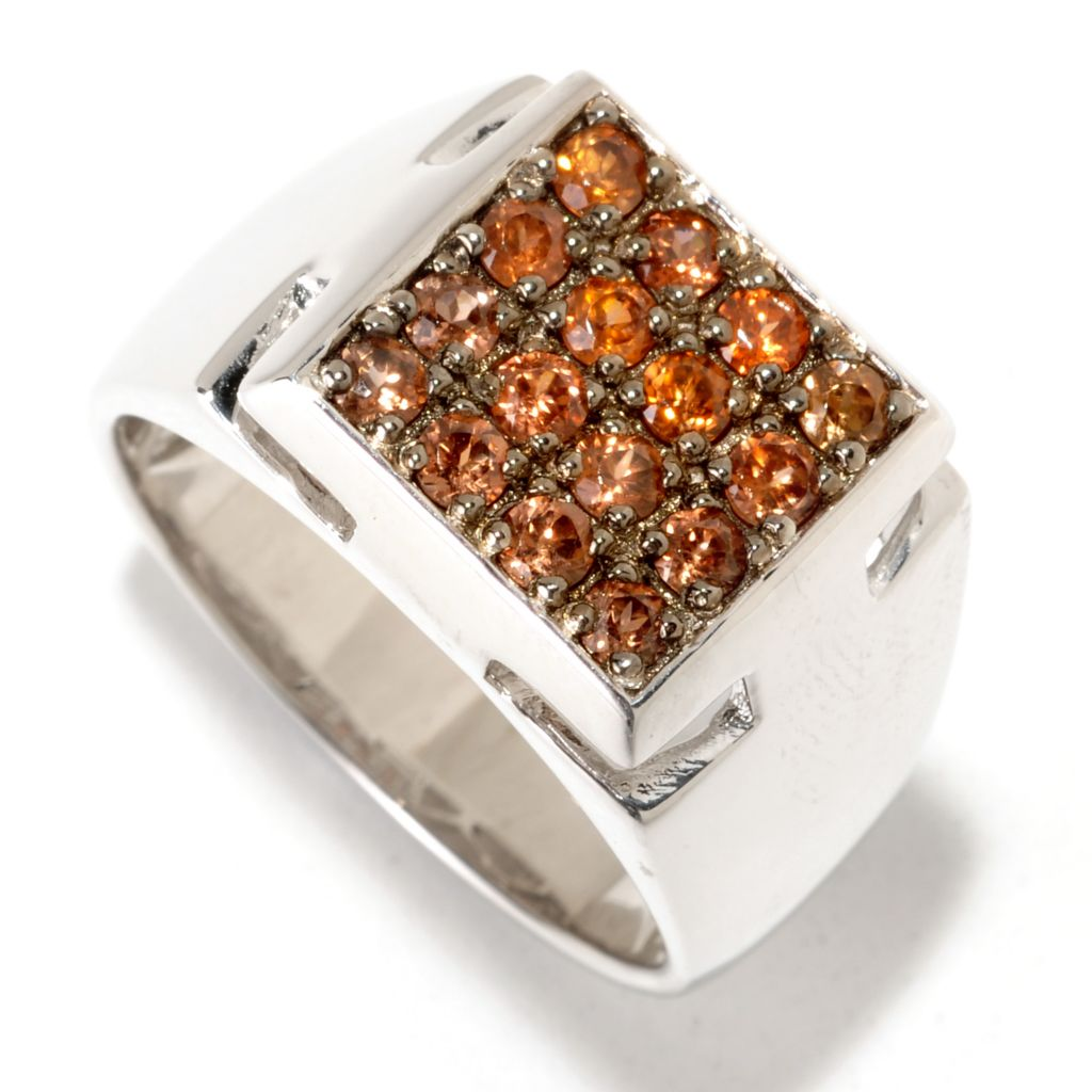125-201 - Men's en Vogue Exotic Gemstone Square Top Ring
