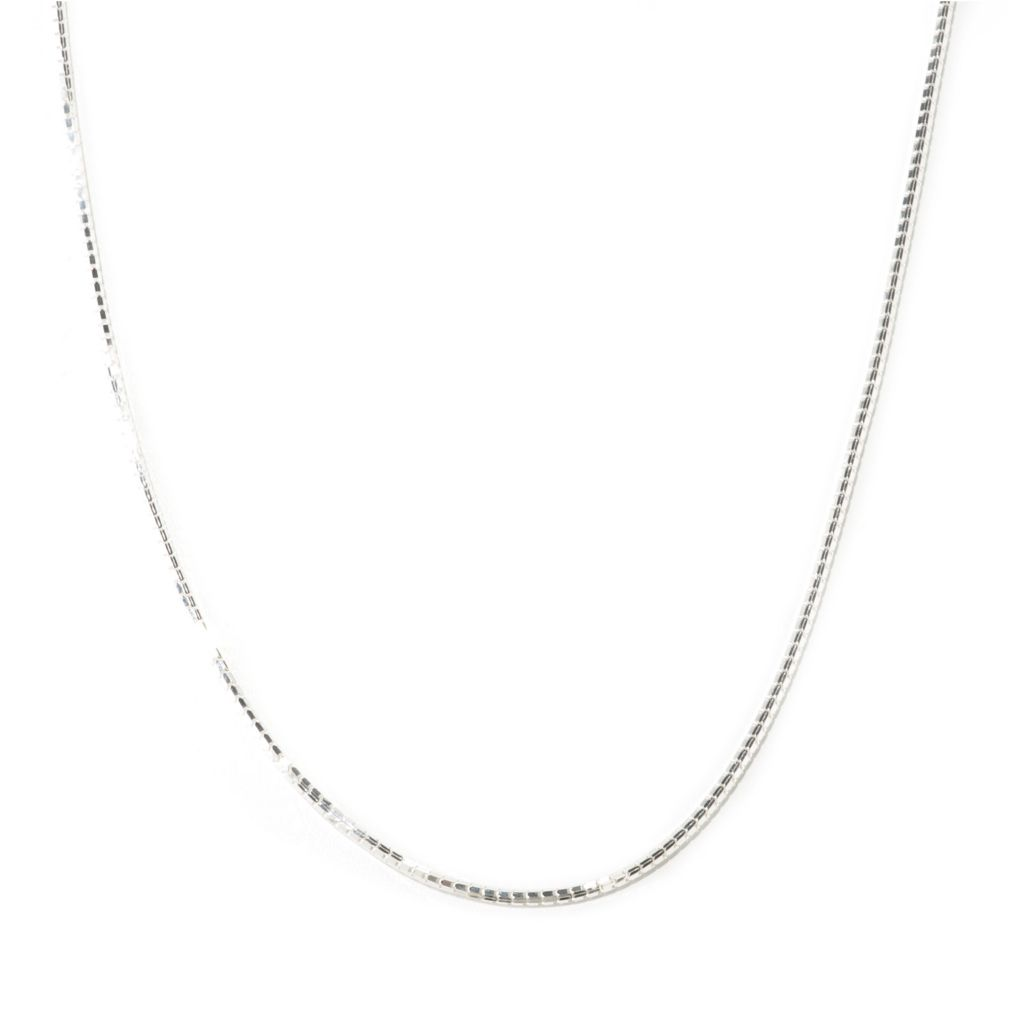 "125-252 - SempreSilver® 36"" Adjustable Box Chain Necklace"