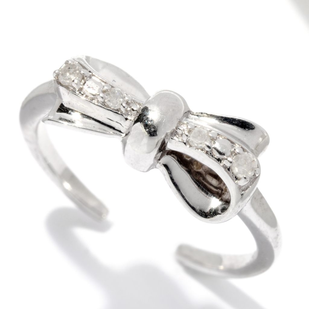125-269 - Diamond Treasures Sterling Silver 0.05ctw Diamond Choice Toe Ring