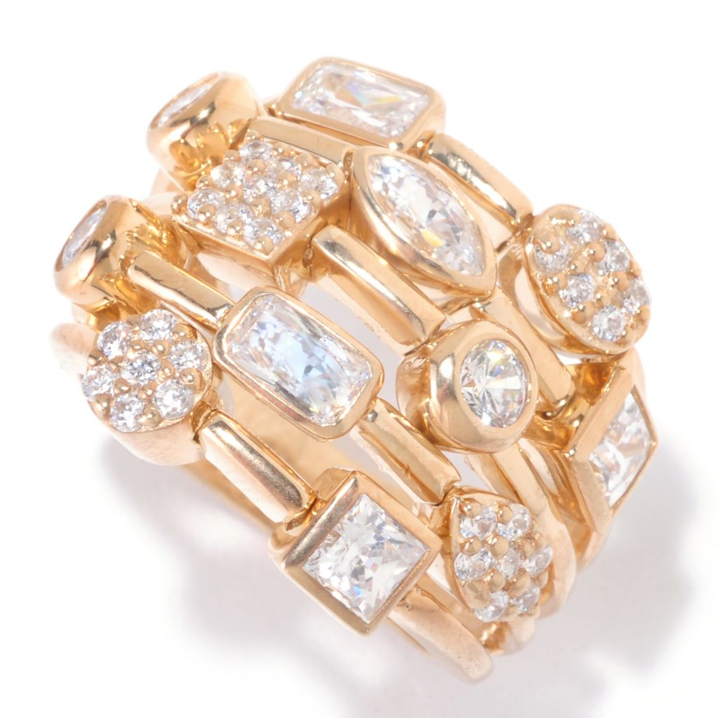 125-282 - Sonia Bitton for Brilliante® 2.07 DEW Dream Fit Multi-Shape Celebration Ring