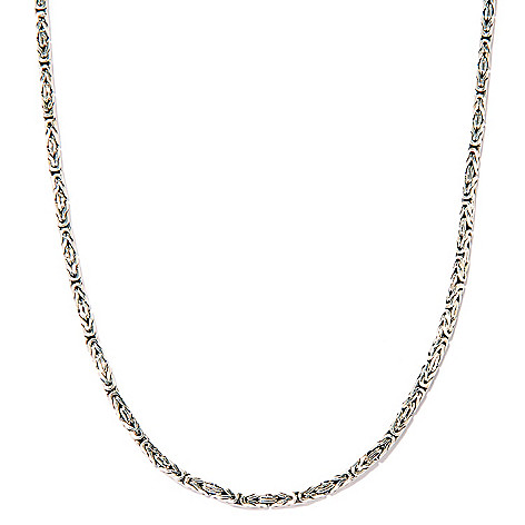 125-410 - Artisan Silver by Samuel B. Polished Sterling Silver Byzantine Necklace