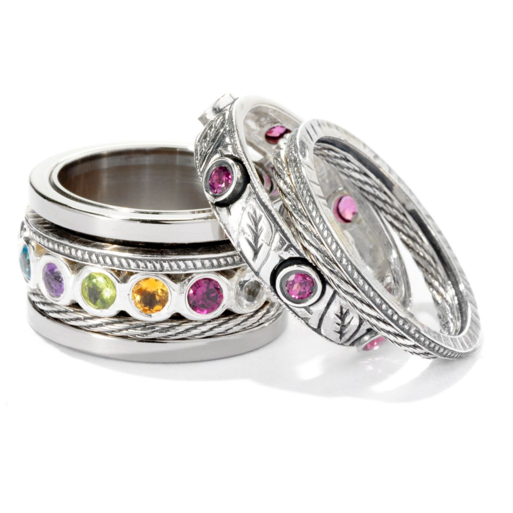 "125-415 - Artisan Silver by Samuel B. Multi Gemstone ""Build a Ring"""