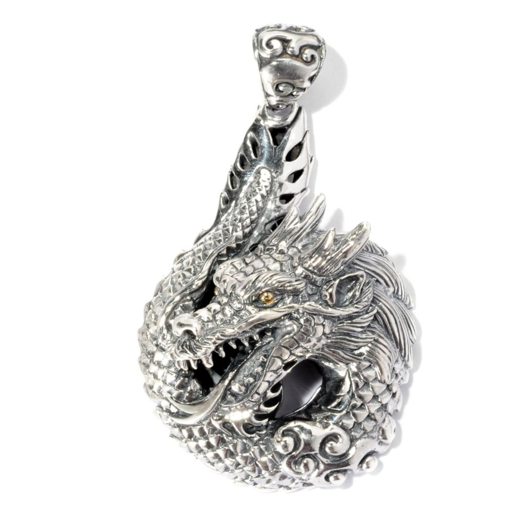 125-447 - Artisan Silver by Samuel B. Polished Dragon Pendant