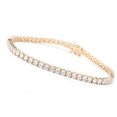 125-448 - Brilliante® Round Cut Prong Set Simulated Diamond Tennis Bracelet