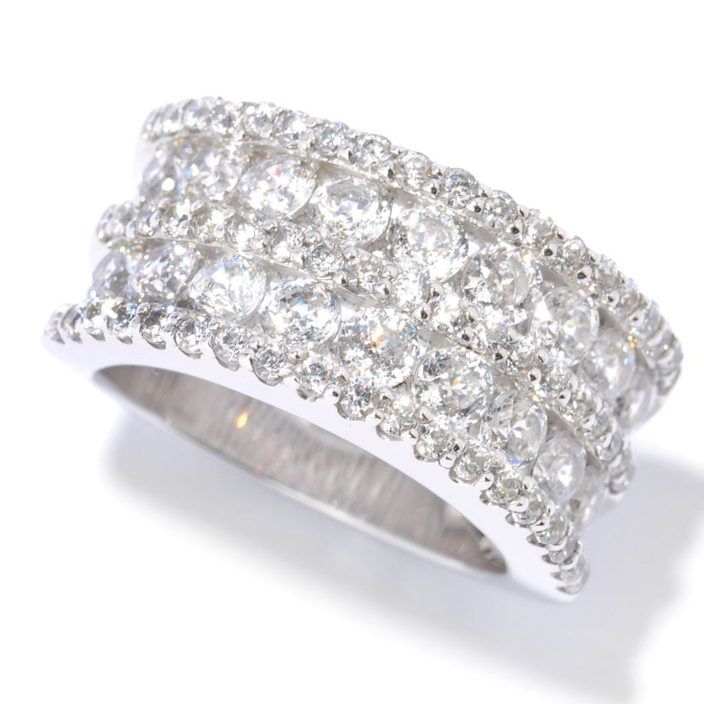 125-449 - Brilliante® 2.84 DEW 100-Facet Round Simulated Diamond Band Ring