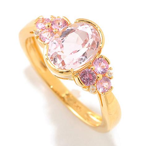 125-451 - NYC II™ 1.79ctw Kunzite, Pink Sapphire & White Zircon Ring