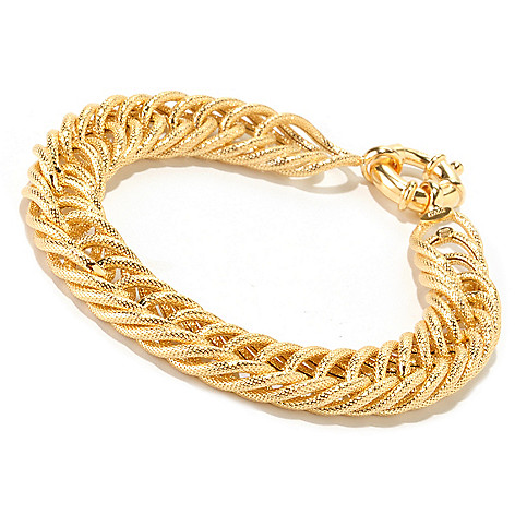 125-493 - Portofino Gold Embraced™ Textured French Rope Bracelet