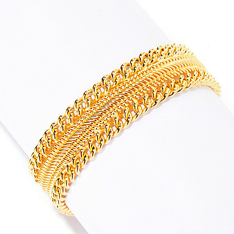 125-504 - Portofino Gold Embraced™ Polished Curb Link Bracelet