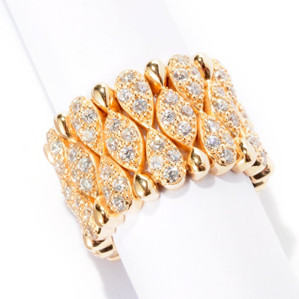 125-563 - Sonia Bitton 2.64 DEW Marquise & Teardrop Shaped Simulated Diamond Dream Fit Ring