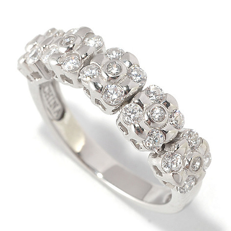 125-568 - Sonia Bitton Burnished & Bezel Set Simulated Diamond Dream Fit™ Ring