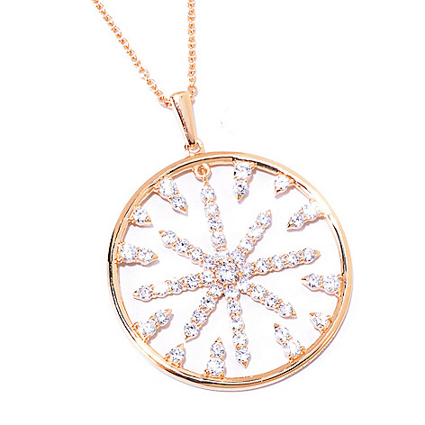 125-573 - Sonia Bitton for Brilliante® Gold Embraced™ 3.53 DEW Round Cut Starburst Pendant