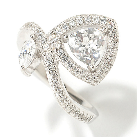 125-577 - Brilliante® Platinum Embraced™ 1.63 DEW Trillion Simulated Diamond Vine Ring