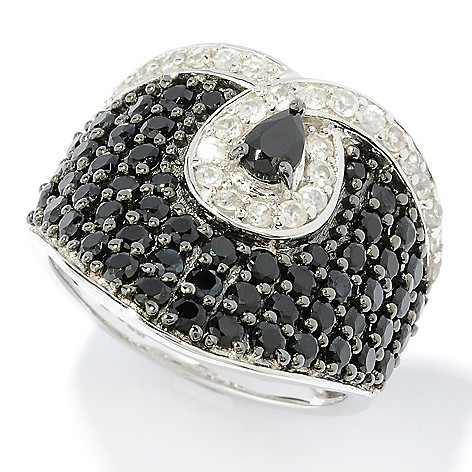 125-612 - NYC II 3.51ctw Black Spinel & White Zircon Ring