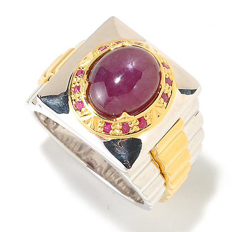 125-647 - Men's en Vogue II 11 x 9mm Six-Ray Star Ruby Ring