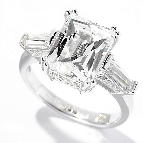 125-684 - TYCOON Platinum Embraced™ 4.27 DEW Simulated Diamond TYCOON CUT Ring