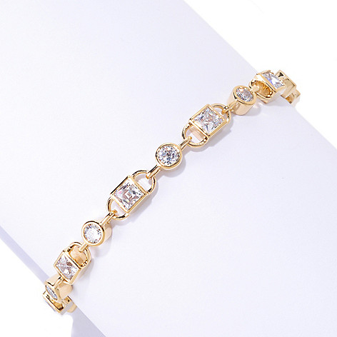 125-694 - TYCOON Square & Round TYCOON CUT Simulated Diamond Link Bracelet
