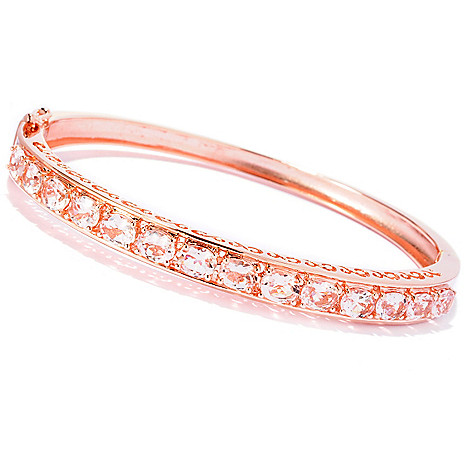 125-713 - NYC II™ 3.64ctw Morganite Hinged Bangle Bracelet
