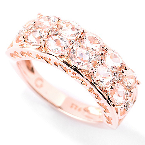 125-714 - NYC II™ 1.36ctw Morganite & White Zircon Band Ring