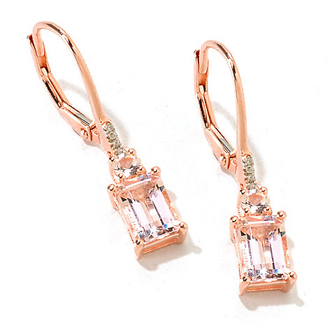 125-717 - NYC II 1.73ctw Morganite & White Zircon Drop Earrings