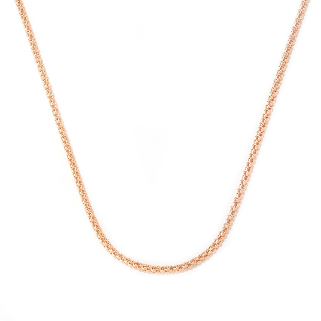 "125-792 - Toscana Italiana 18K Gold Embraced™ 36"" High Polished Hammered Coreana Chain Necklace"