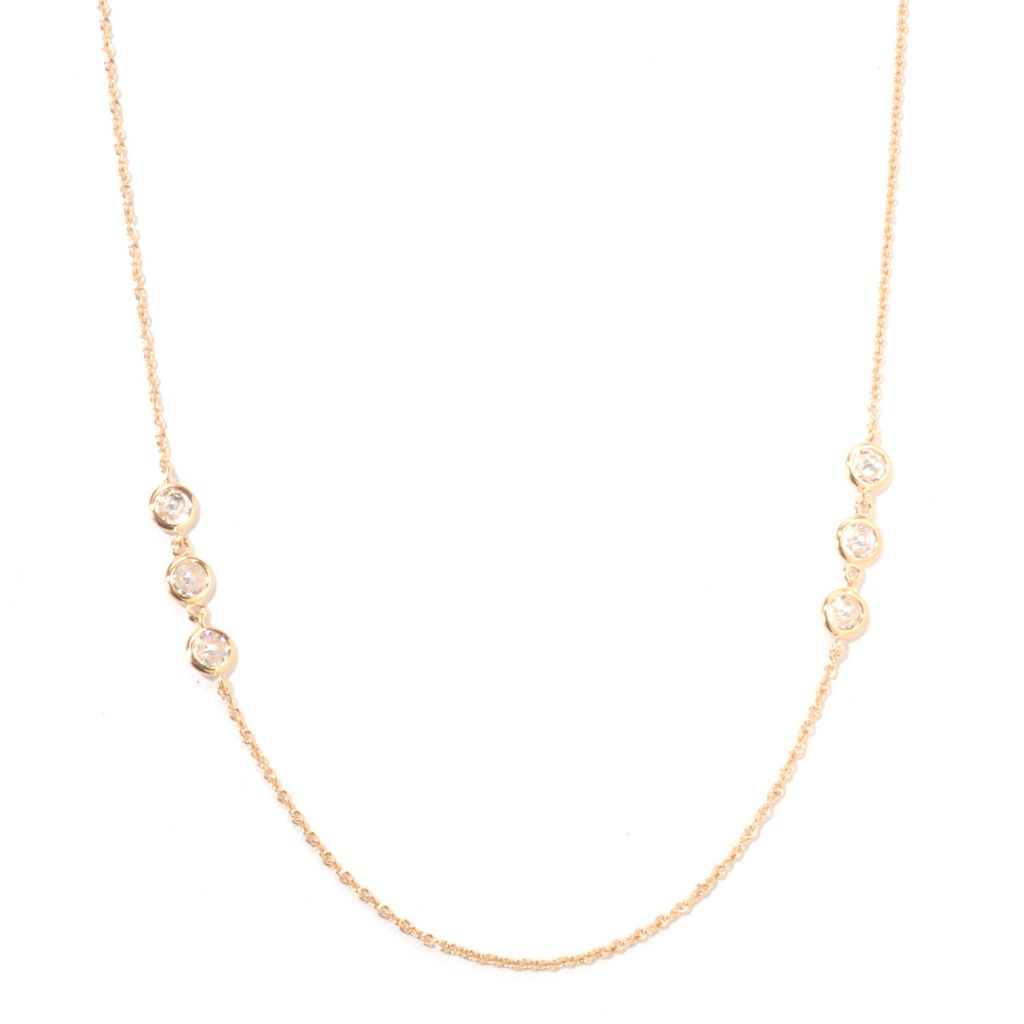 "125-937 - Sonia Bitton for Brilliante® 36"" 3.15 DEW Double-Sided Station Necklace"