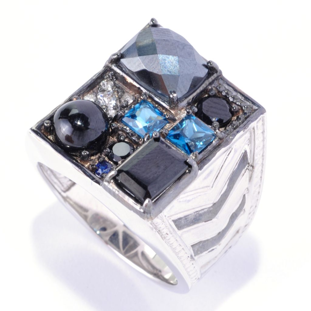 "126-036 - Men's en Vogue 5.97ctw Multi Gemstone ""Manhattan"" Ring"