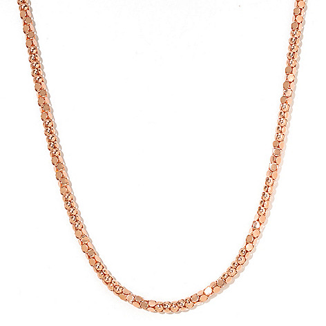 126-118 - Scintilloro[ Gold Embraced[ 22'' Diamond Cut Coreana Necklace
