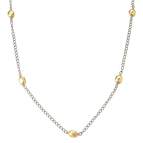 126-285 - mariechavez 35'' Curb Link Circular Station Necklace