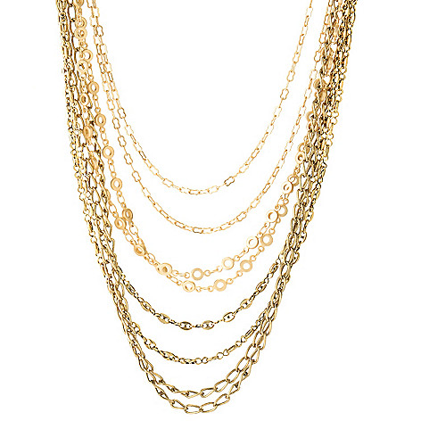 126-286 - mariechavez 18'' Multi Strand Chain Link Necklace