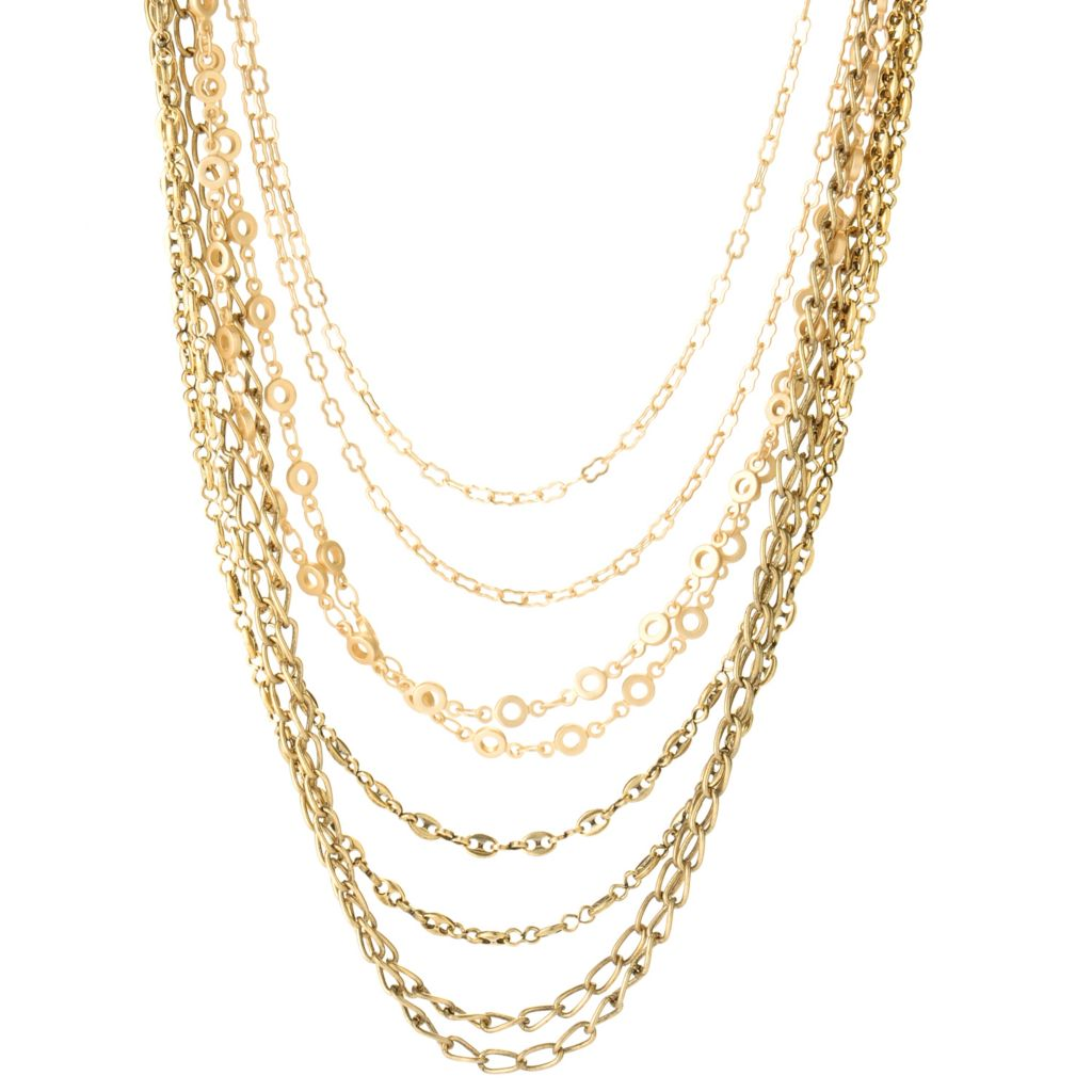 "126-286 - mariechavez 18"" Multi Strand Chain Link Necklace"