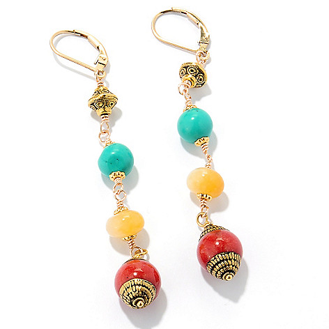 126-290 - mariechavez Gemstone Dangle Earrings