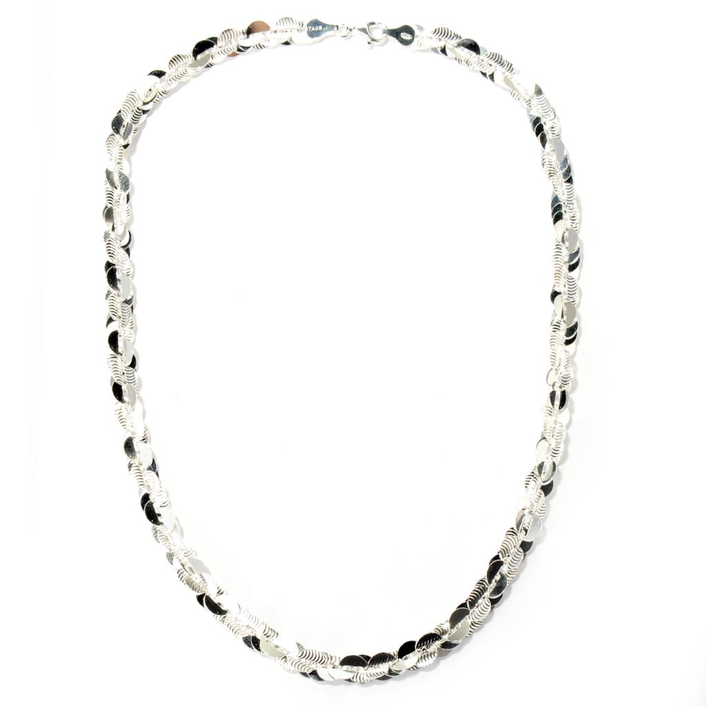 126-445 - SempreSilver® Polished & Textured Twist Necklace