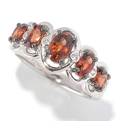 126-484 - Gem Treasures® Sterling Silver 1.75ctw Multi Color Zircon Ring