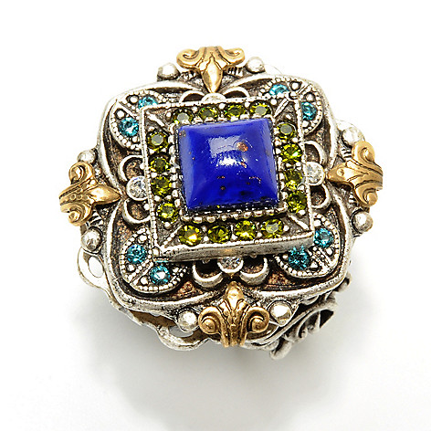 126-507 - Sweet Romance™ Blue Square Glass Center Ring