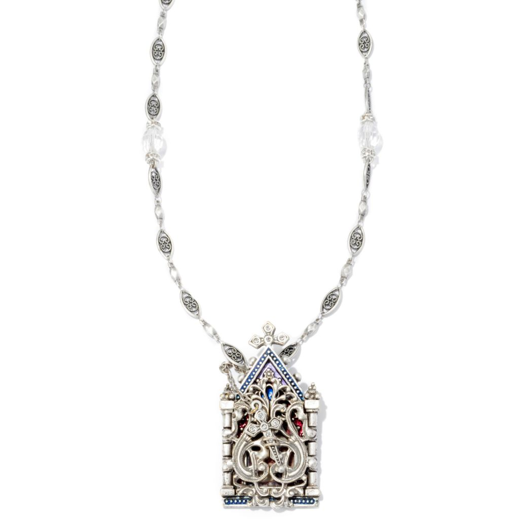 "126-512 - Sweet Romance™ 36"" Devotional Cathedral Necklace"