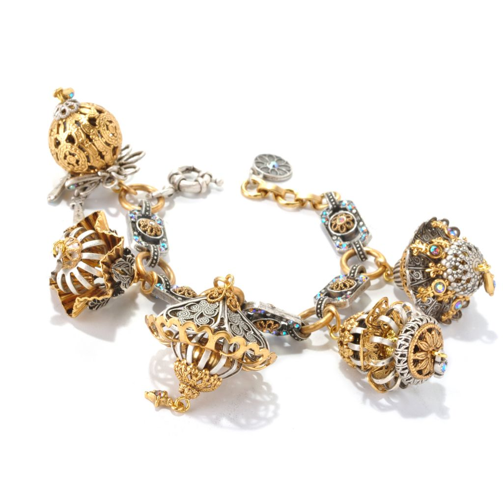 "126-533 - Sweet Romance™ 7"" Filigreed Lantern Charm Bracelet"