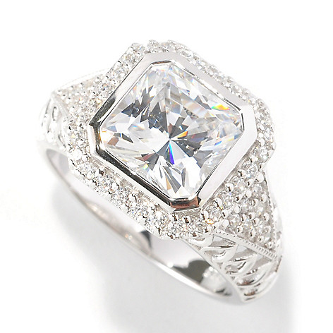 126-605 - Brilliante® Platinum Embraced™ 3.00 DEW Simulated Diamond Open Work Ring