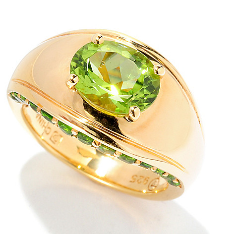 126-677 - Omar Torres 2.18ctw Peridot & Chrome Diopside Ring