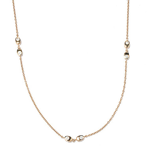 126-696 - Sonia Bitton 36'' 3.15 DEW Double-Sided Simulated Diamond Station Necklace